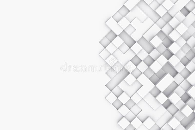 Fondo con los cubos abstractos ilustración 3D foto de archivo libre de regalías