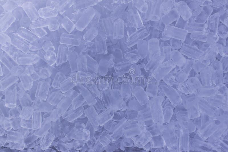 Fondo con los cubos de hielo fotos de archivo