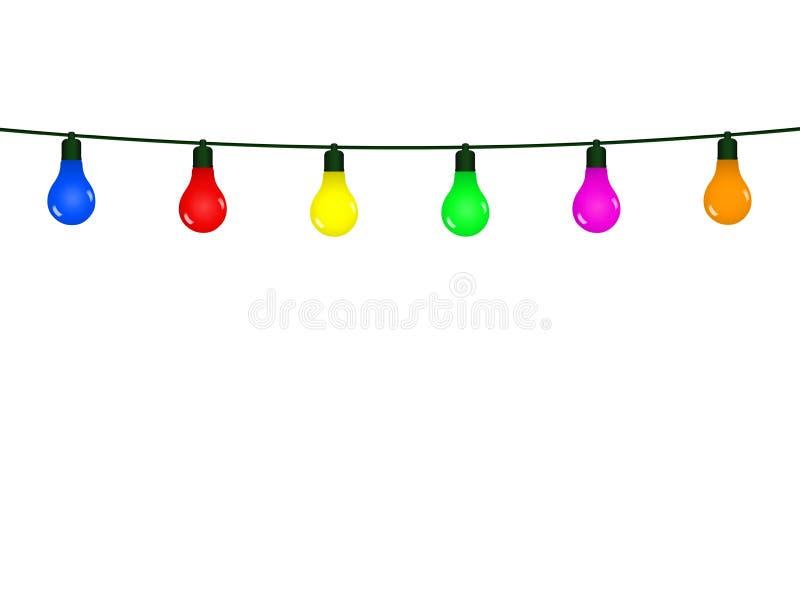 Fondo con los diversos adornos decorativos por la Navidad y el A?o Nuevo stock de ilustración