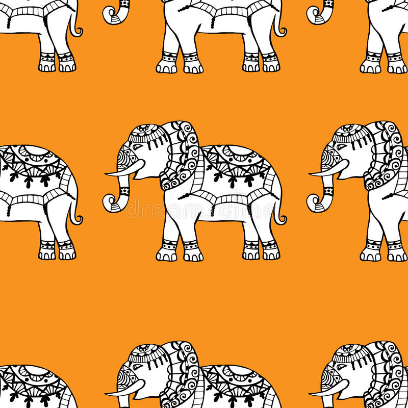 Fondo con los elefantes ilustración del vector