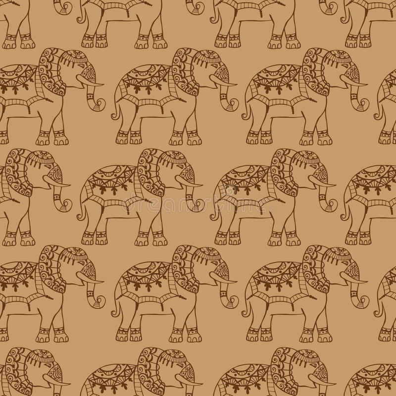 Fondo con los elefantes libre illustration