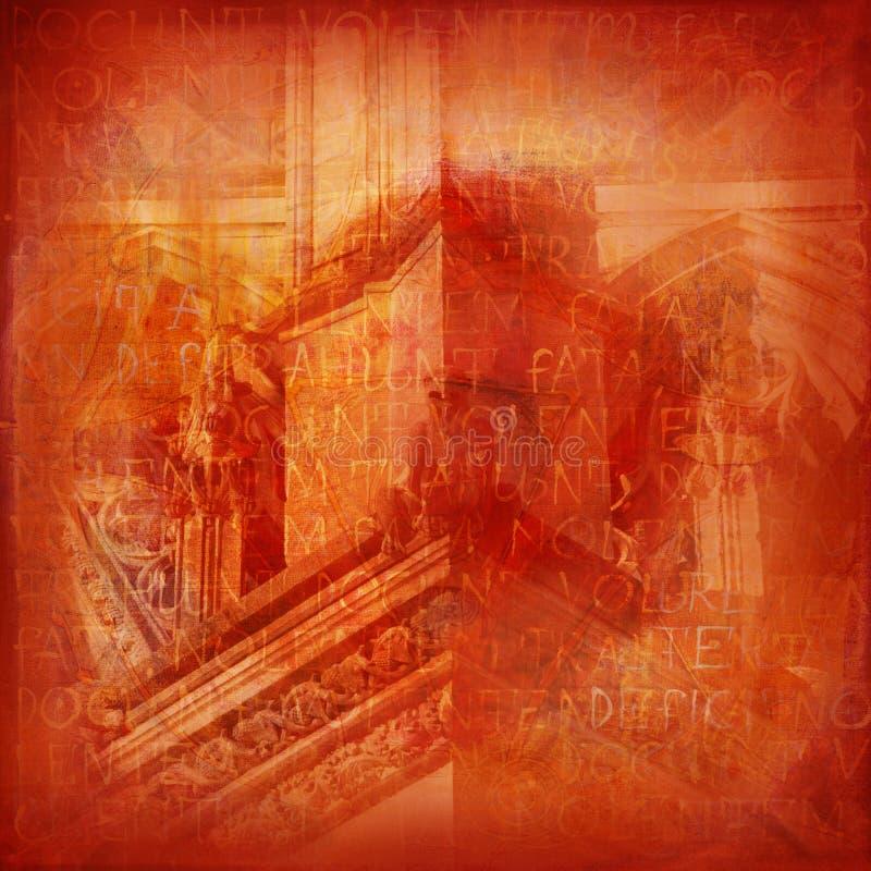 Fondo con los elementos de gótico stock de ilustración