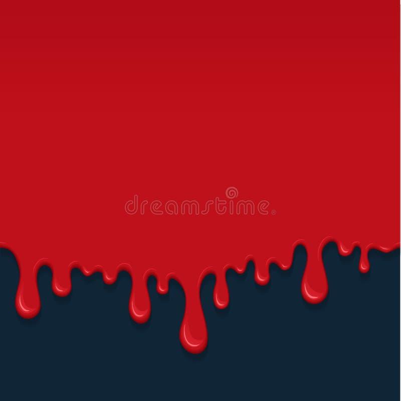 Fondo con los goteos de la sangre ilustración del vector