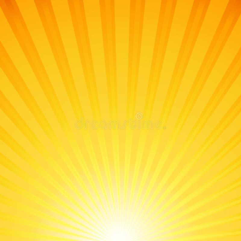 Fondo con los rayos del sol ilustración del vector