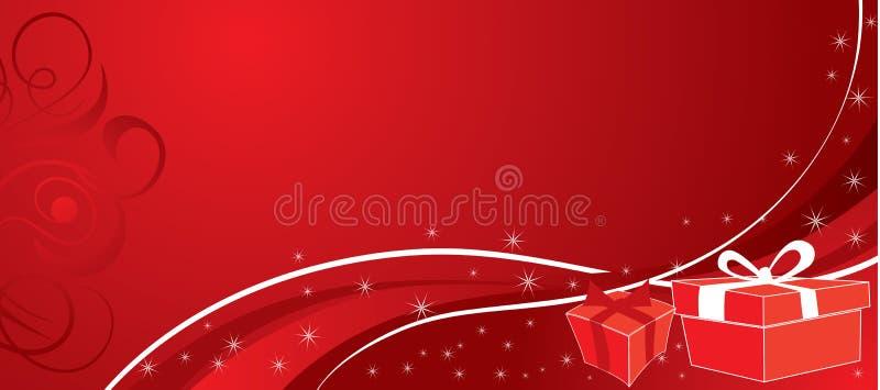 Fondo con los regalos, vector de la Navidad libre illustration