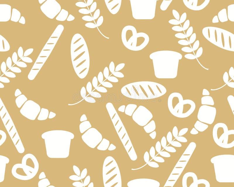 Fondo con pane ed il croissant royalty illustrazione gratis