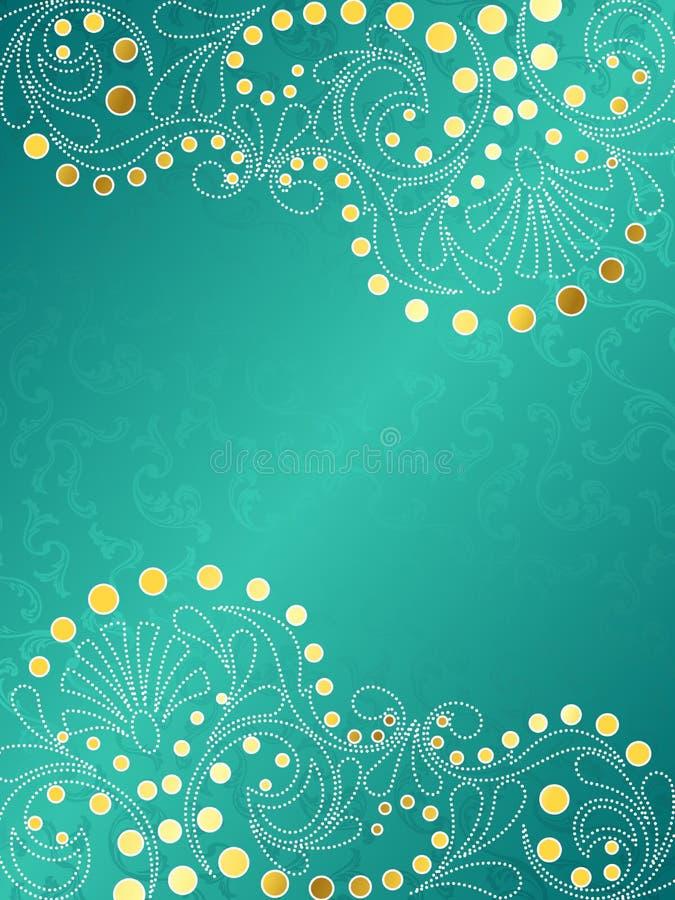 Fondo con remolinos delicados, vertica de la turquesa ilustración del vector