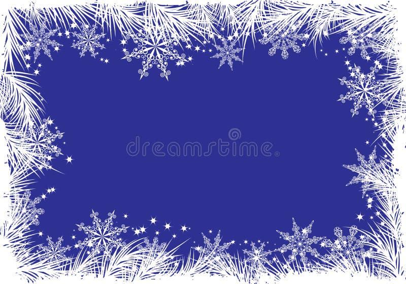 Fondo con un árbol de abeto, vector del invierno stock de ilustración