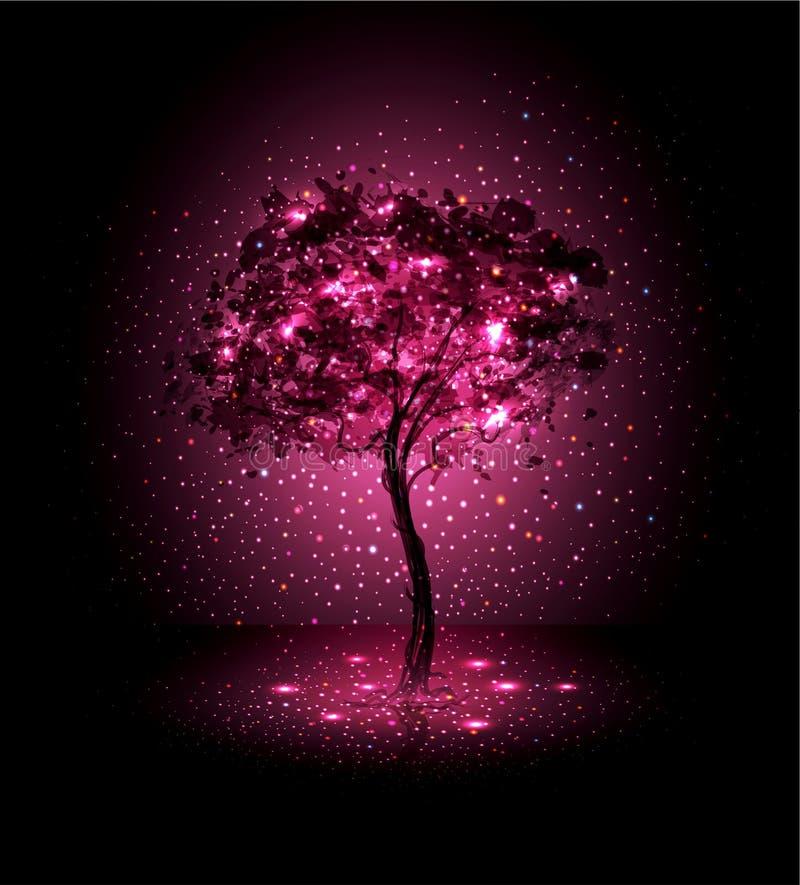 fondo con un albero illustrazione vettoriale