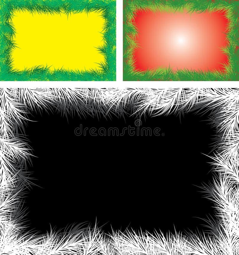 Fondo con un piel-árbol, vector de la Navidad ilustración del vector