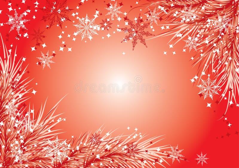 Fondo con un piel-árbol, vector de la Navidad stock de ilustración