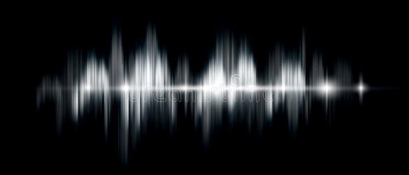 Fondo con una onda acústica, VE blanco y negro del extracto del vector libre illustration