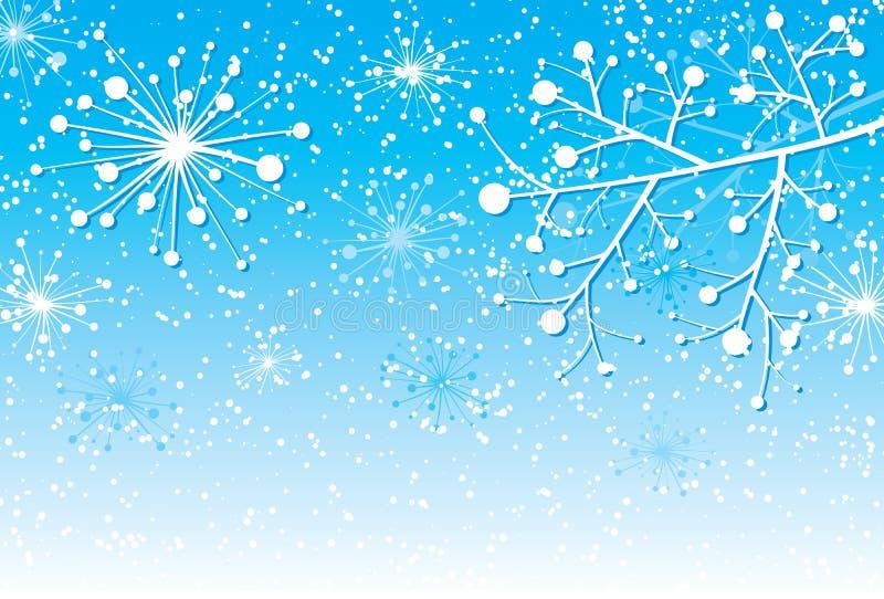 Fondo con una ramificación, vector de la Navidad libre illustration