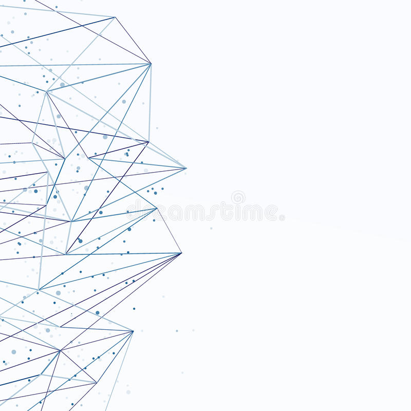 Fondo conceptual azul del extracto de la conexión de red Communic stock de ilustración
