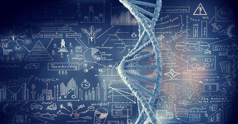 Fondo conceptual de la biotecnología stock de ilustración