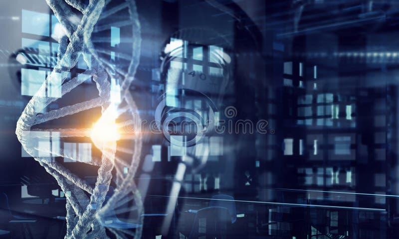 Fondo conceptual de la biotecnología libre illustration