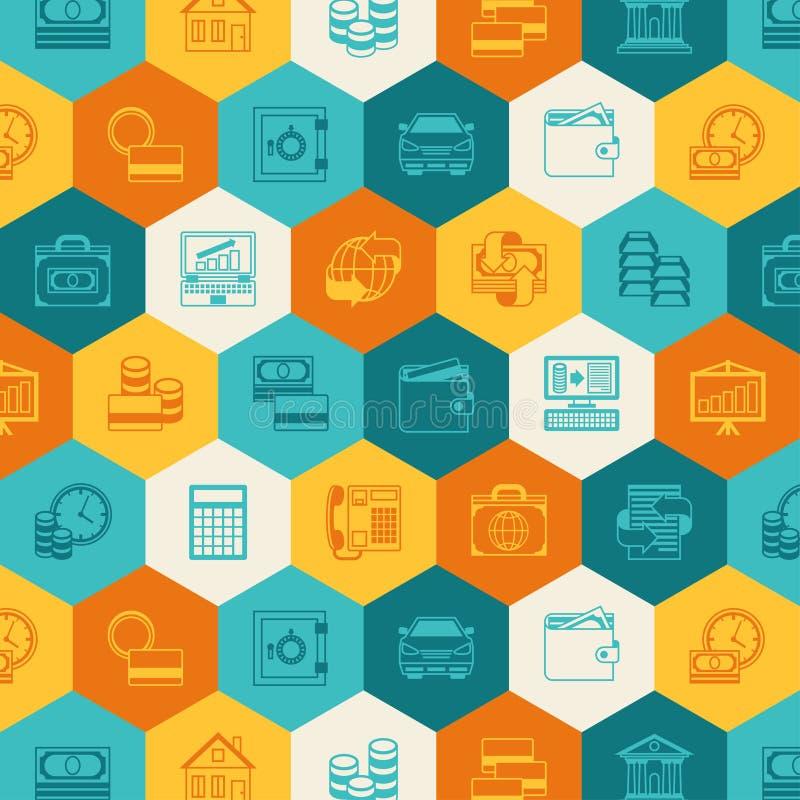 Fondo conceptual de las actividades bancarias y del negocio ilustración del vector
