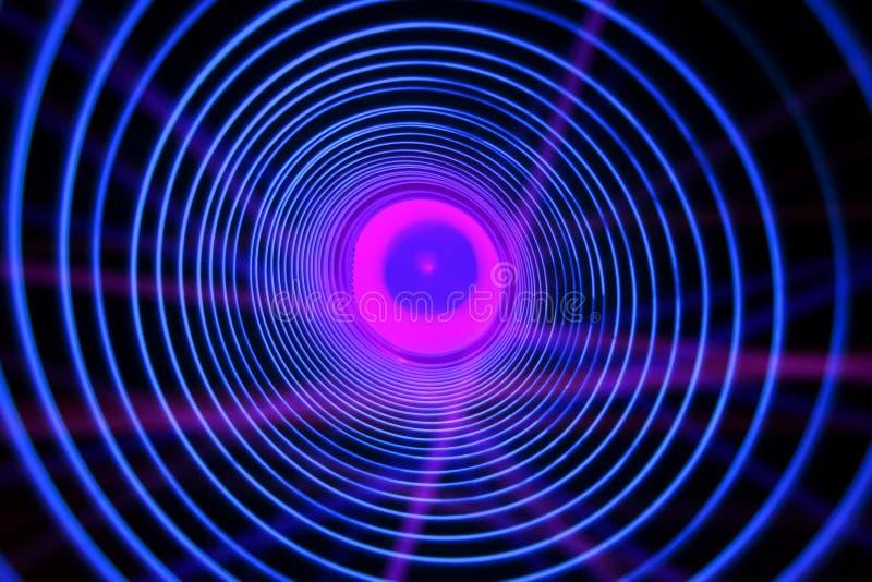 Fondo concettuale astratto con il tunnel alta tecnologia futuristico del buco del verme illustrazione vettoriale