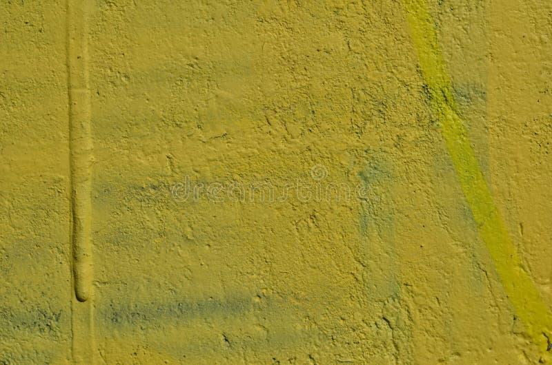Fondo concreto amarillo fotografía de archivo libre de regalías