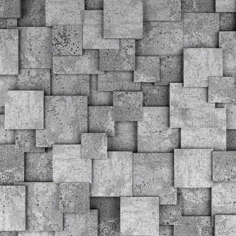 Fondo concreto de la pared del cubo 3d ilustración del vector