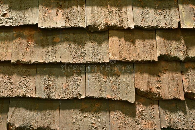 Fondo concreto delle mattonelle di tetto fotografie stock libere da diritti