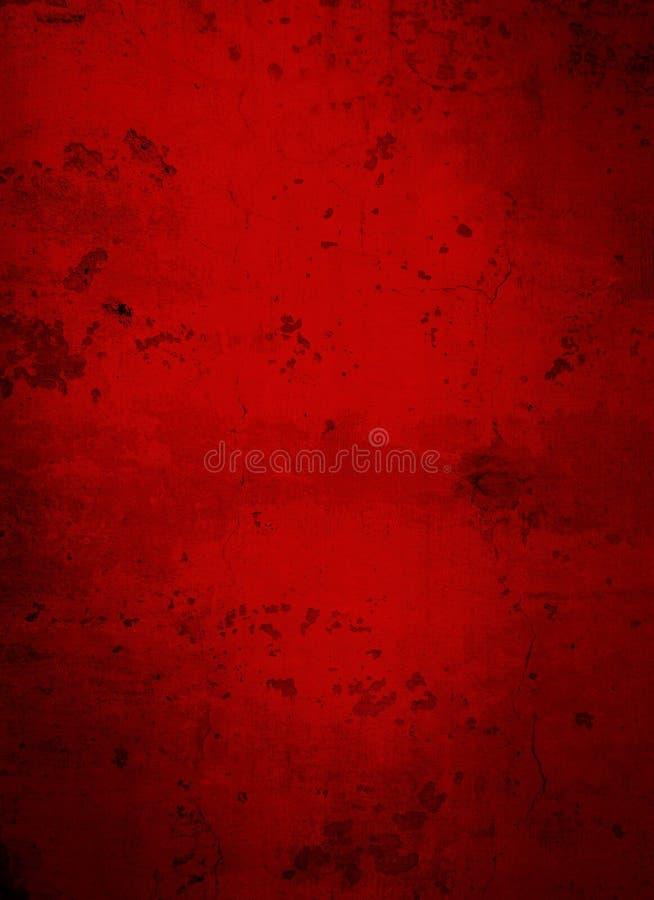 Fondo concreto rojo oscuro profundo del Grunge imagenes de archivo