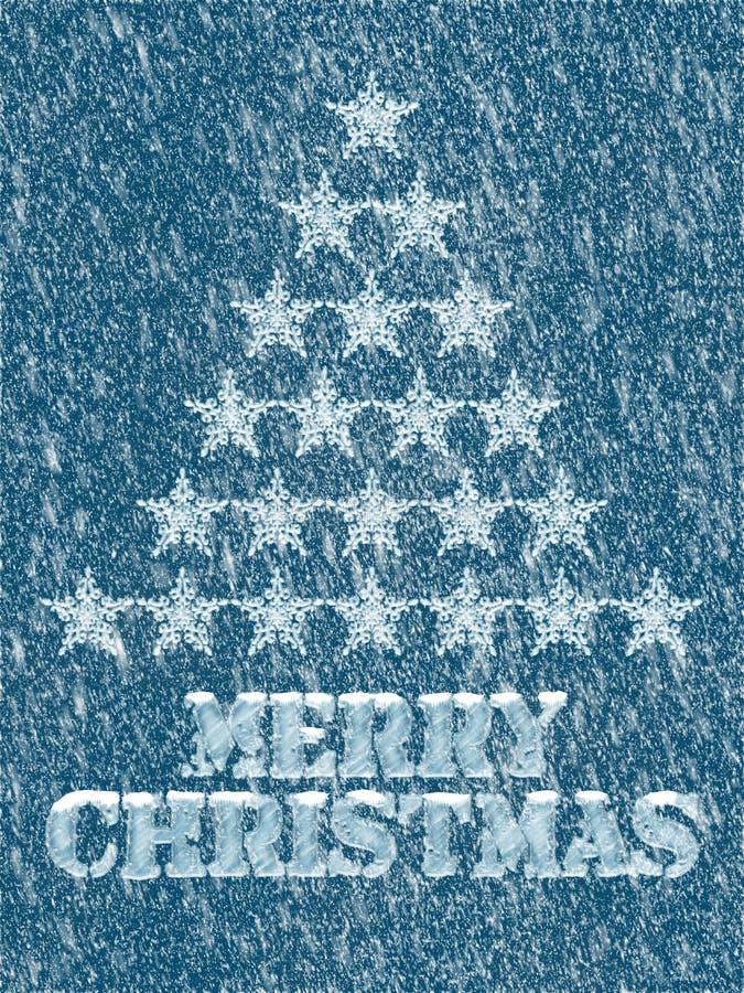 Fondo congelato Buon Natale illustrazione vettoriale