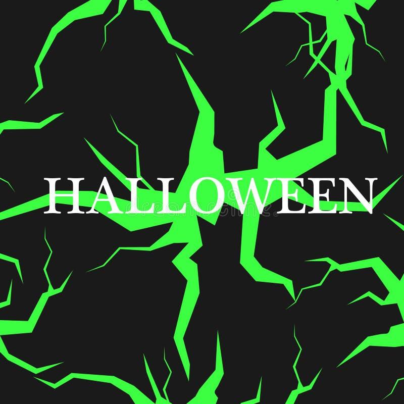 Fondo congratulatorio del feliz Halloween Ilustración del vector stock de ilustración