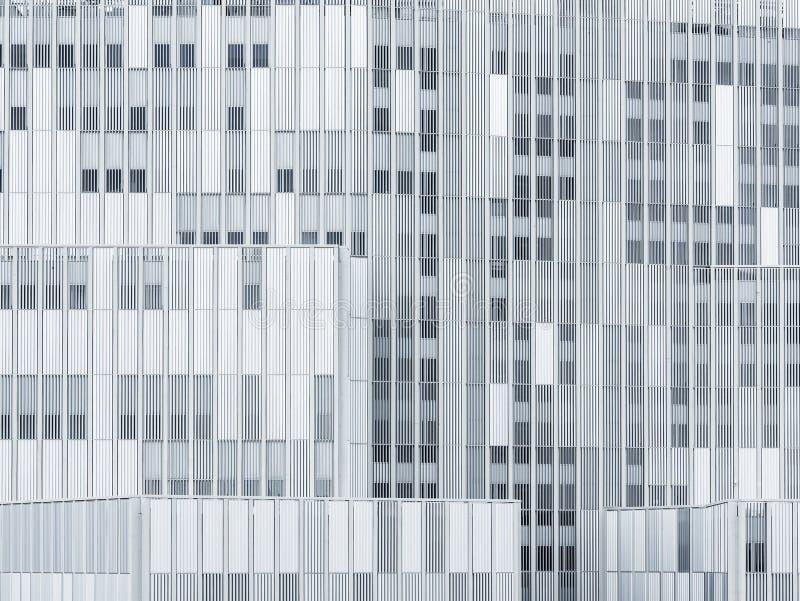 Fondo constructivo moderno de los detalles de la arquitectura de la fachada del modelo de acero imagen de archivo
