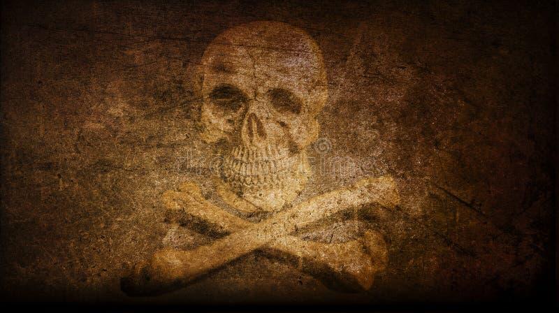 Fondo X-contrassegnato del cranio dell'annata due artistici astratti royalty illustrazione gratis