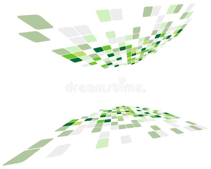 Fondo controlado verde ilustración del vector