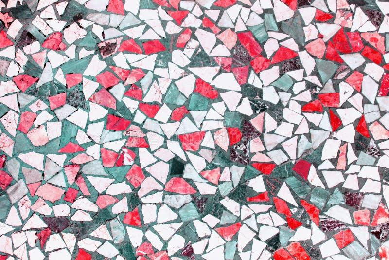 Fondo coralino de las baldosas cer?micas del mosaico fotografía de archivo