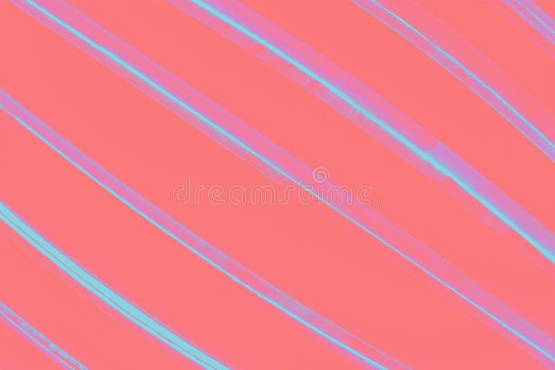 Fondo coralino del color con ultra las rayas de la turquesa fotografía de archivo libre de regalías
