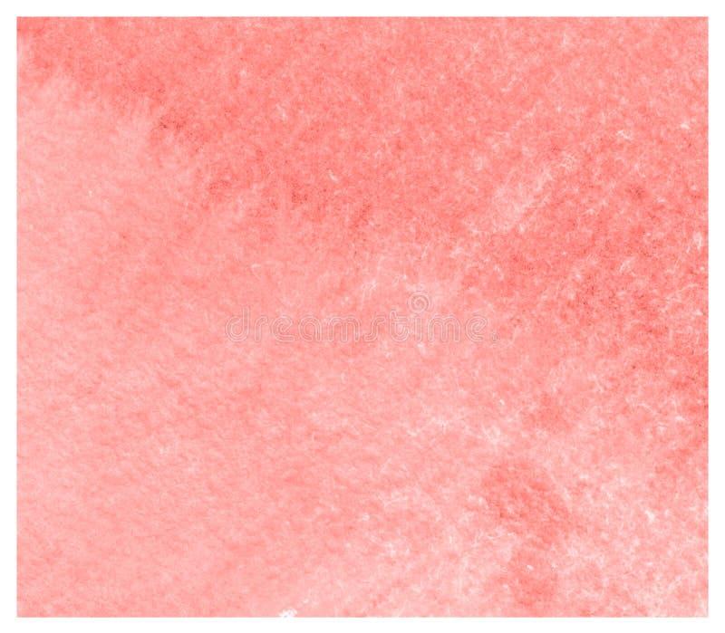 Fondo coralino vivo colorido de la acuarela del extracto ilustración del vector