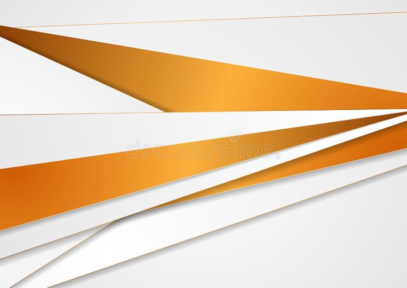 Fondo corporativo gris y de bronce abstracto de las rayas libre illustration