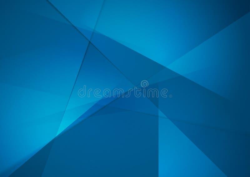 Fondo corporativo poligonal de alta tecnología azul brillante libre illustration