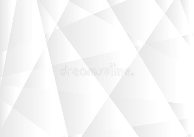 Fondo corporativo poligonal de alta tecnología gris abstracto ilustración del vector