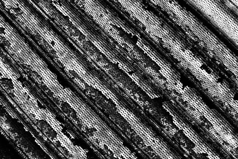 Fondo corroído blanco y negro del metal fotos de archivo