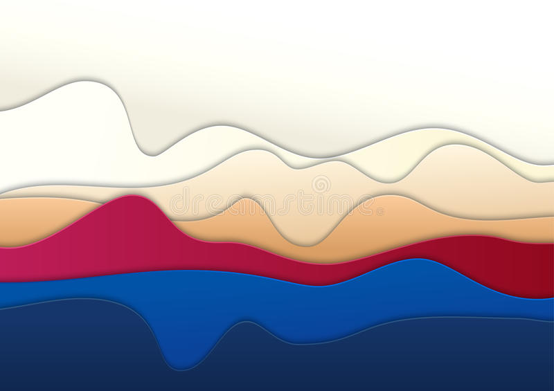 Fondo cortado acodado del papel coloreado Arte abstracto de la capa Ilusiones del fichero del vector de la profundidad libre illustration