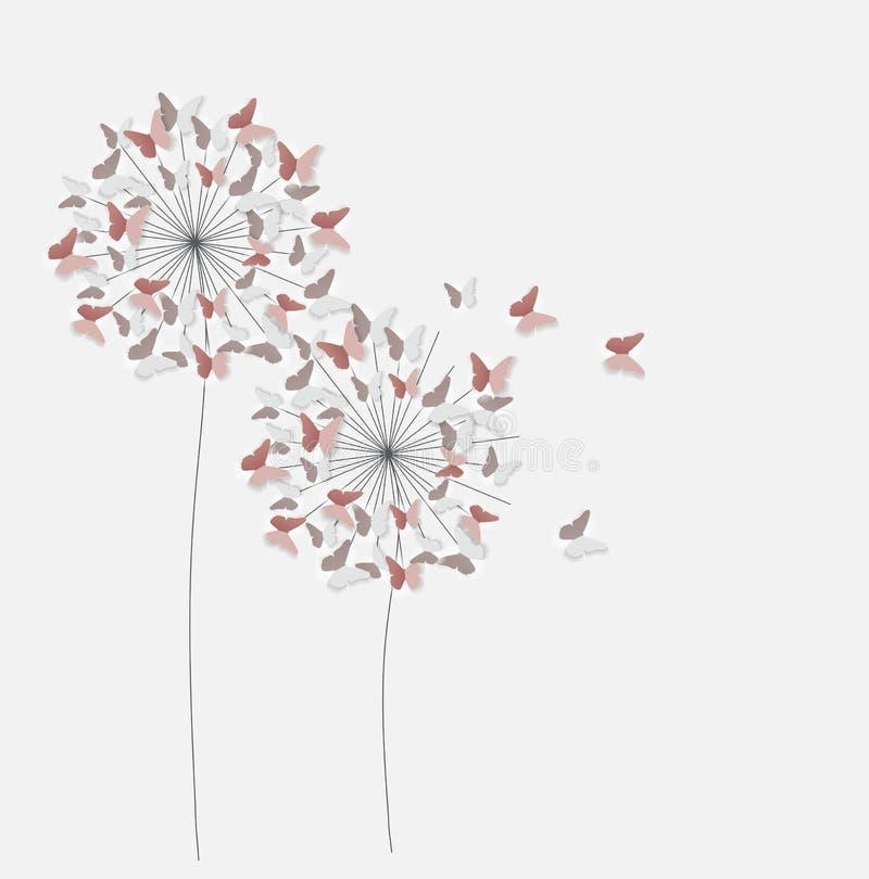 Fondo cortado papel abstracto de la flor de mariposa Illus del vector ilustración del vector