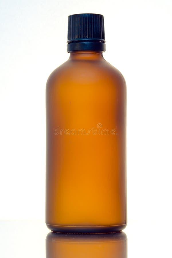 Fondo cosmético de la botella fotografía de archivo