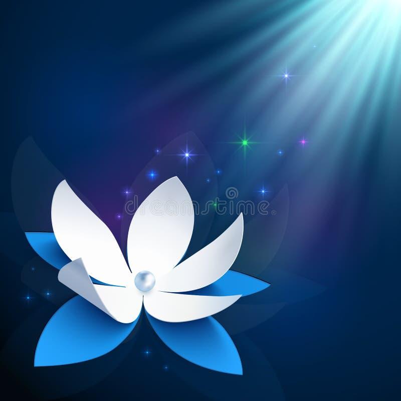 Fondo cosmico di vettore del fiore di notte royalty illustrazione gratis