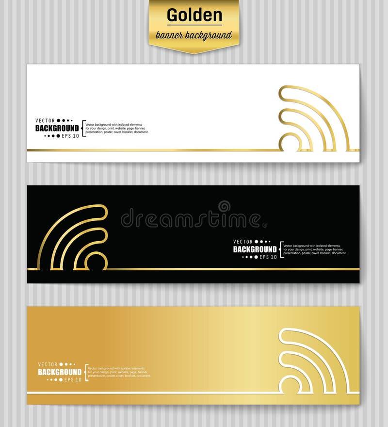 Fondo creativo abstracto del vector del oro del concepto para el web app, diseño de la plantilla del ejemplo, negocio infographic libre illustration