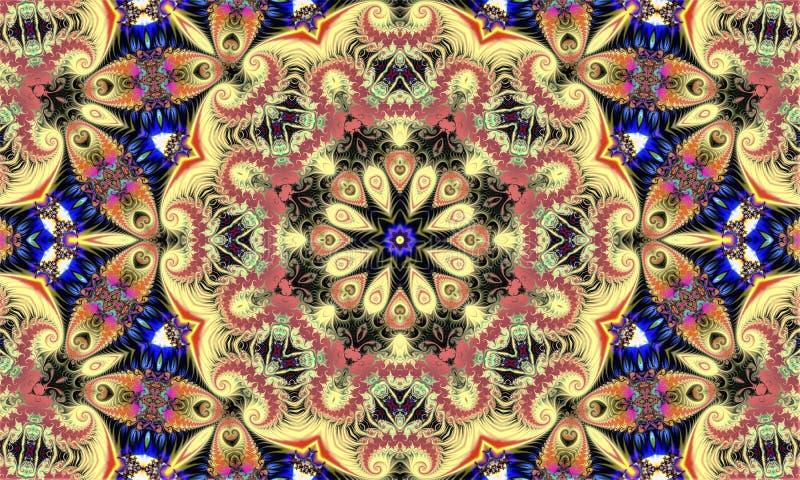 Fondo creativo abstracto que consiste en varios patrones fractales fotografía de archivo
