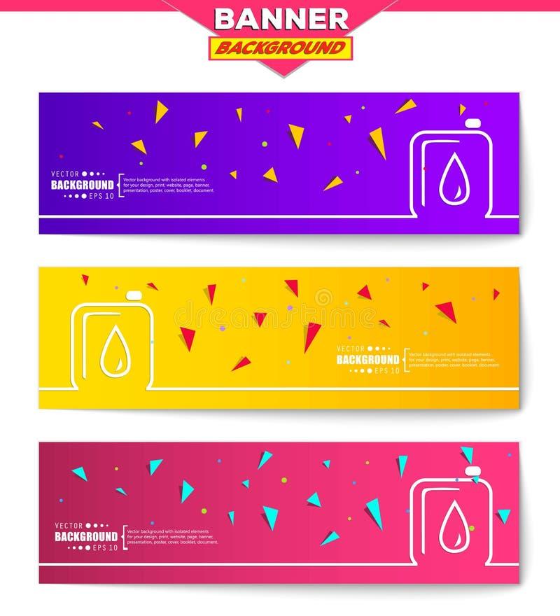 Fondo creativo astratto di vettore di concetto per le applicazioni del cellulare e di web, progettazione del modello dell'illustr illustrazione vettoriale