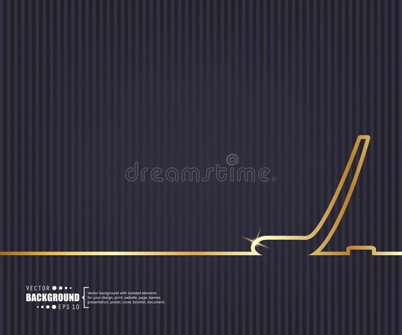 Fondo creativo astratto di vettore di concetto Per le applicazioni del cellulare e di web, progettazione del modello dell'illustr illustrazione di stock