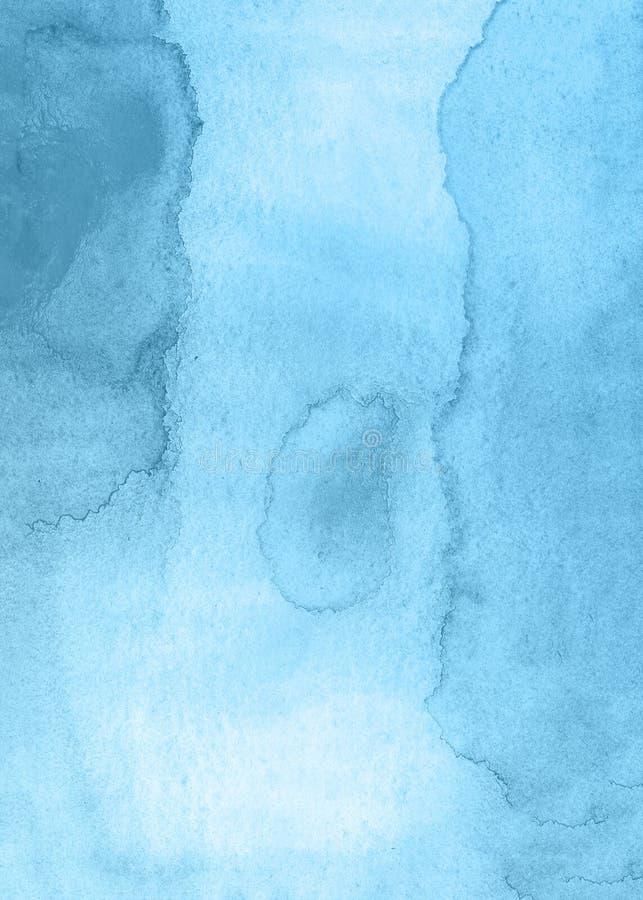 Fondo creativo azul de la textura de la acuarela de la flor, planeta creativo hermoso ilustración del vector