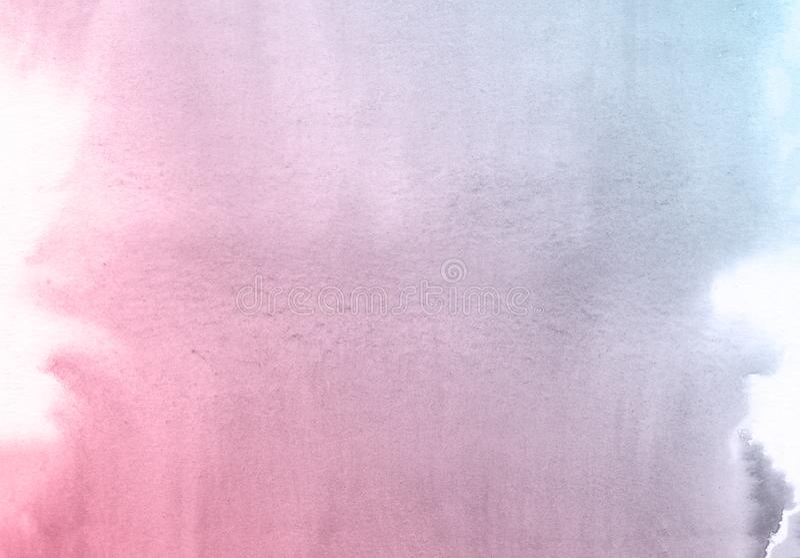 Fondo creativo azul y púrpura de la textura de la acuarela de la flor, planeta creativo hermoso stock de ilustración