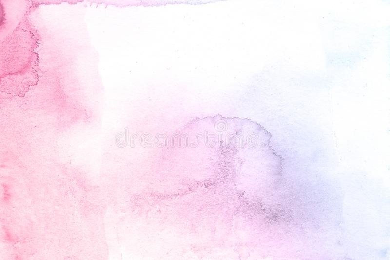 Fondo creativo azul y rosado de la textura de la acuarela de la flor, planeta creativo hermoso ilustración del vector