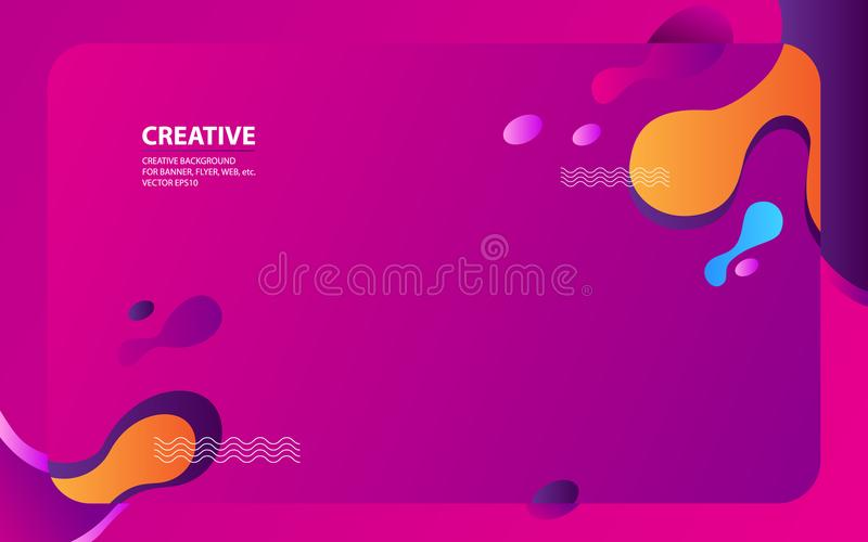 Fondo creativo con diseño liso ilustración del vector